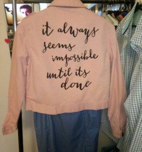 Платье джинцовое и джинцовка розовая 44-46