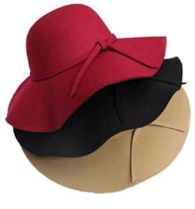 Шляпа черная из фетра