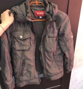 Осенняя теплая куртка фирмы Kiko на мальчика