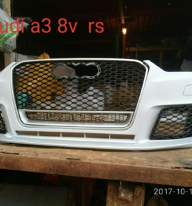 Бампер. Audi a3 8v rs
