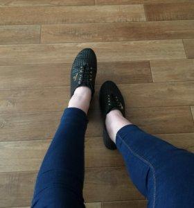 Туфли на шнуровке (натуральная кожа)