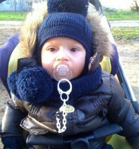 Шарфик и шапочка для сыночка