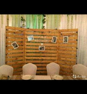 Свадебный декор, оформление в стиле Рустик