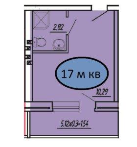 Квартира-студия 17 м кв в а.Новая Адыгея