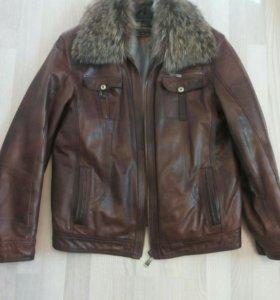 Куртка на натуральном меху,р48