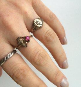 Кольца серебро/позолота. Винтаж