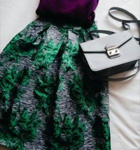 🆕 Твидовая юбка с шелком LOST INK