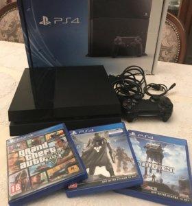 PS4 + 3 игры