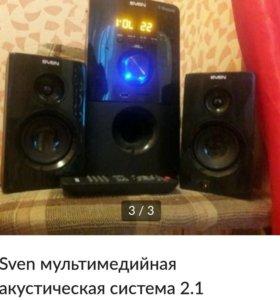 Sven мультимедийная акустическая система 2.1
