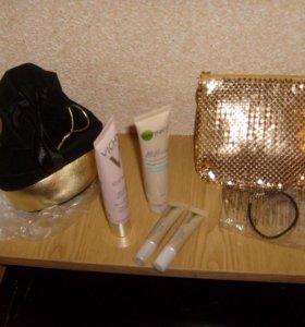 Косметический набор Vichi,Garnier и косметички