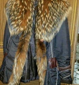 Куртка мех енот