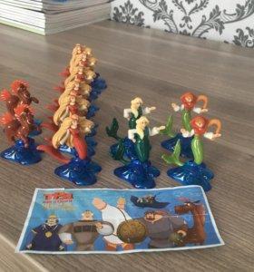 Игрушки из Киндер-сюрприз «Три богатыря»