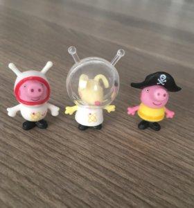 Игрушки из Чупа-Чупс «Свинка Пеппа профессии»
