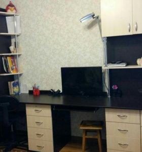 Двухместный стол парта со шкафом