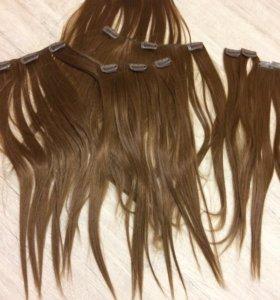 Накладные волосы на заклепках
