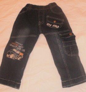 джинсовые штаны зимние с начёсом