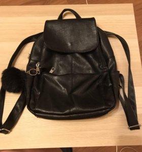 Рюкзак кожаный MANGO