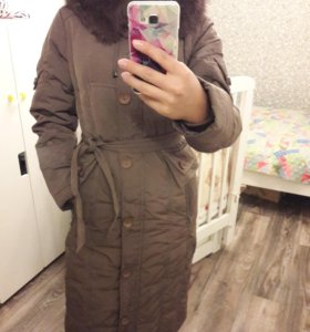 Пальто стеганое зимнее