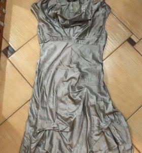 Эксклюзивное асимметричное платье от дизайнера