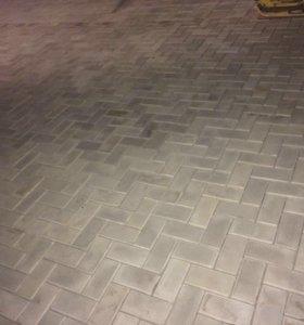 Виброукладка тротуарной плитки