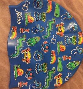 Шапочка для плавания детская безразмерная силикон