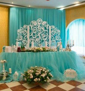 Оформление свадьбы под ключ, флористика