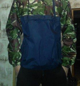 Куртка Анорак зелёный камуфляжный
