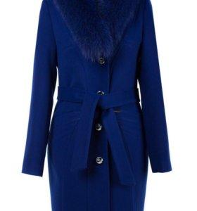 Зимнее пальто, новое, натуральный мех, 52 размер