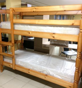 Кровать двухъярусная Людмила-Люкс-1 с матрасами