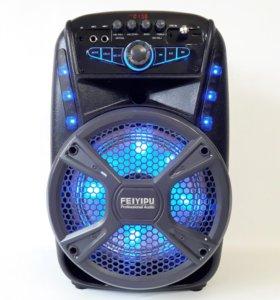 Портативная Bluetooth AUX FM колонка feiyipu