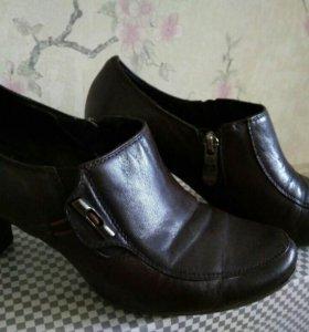 Кожаные туфли, размер 38