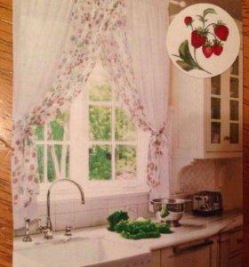 Легкие шторки на кухню
