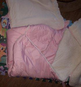 Конверт одеяло на овчине