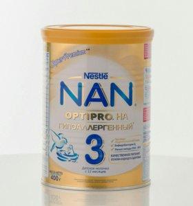 Молочко Nestle NAN Нан Гипоаллергенный га 3 400 г