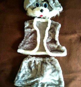 новогодний костюм на мальчика - заяц