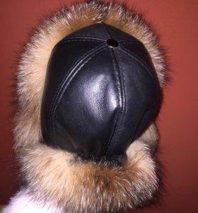 Новая шапка с натуральным мехом(лиса)