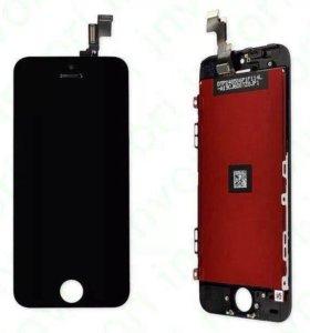 Дисплей iPhone 5S черный+инструменты для разборки