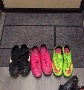 3 пары бутс Nike