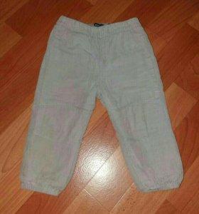 утеплённые вельветовые штанишки р.80