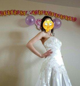Свадебное платье от дизайнера Оксана Муха +Капор