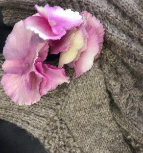 Носочки вязанные из натуральной шерсти