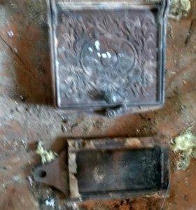 Дверце печи, задвижка, 2 плиты