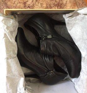 Туфли кожаные на замке + набойки новые
