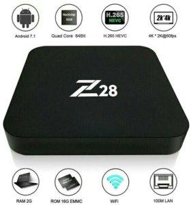 Z28 box приставка Смарт тв android 7.1