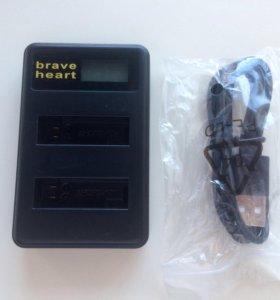 Зарядник для GoPro 4 и 4 аккумулятора