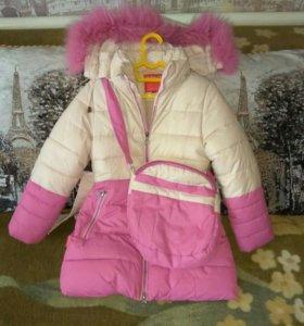 Зимнее пальто рост 122