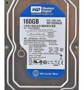 """Жёсткий диск HDD 3,5"""" SATA 160Gb WesternDigital"""