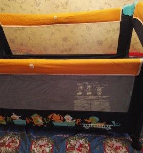 Детская кровать манеж + ортопедический матрац