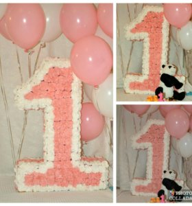 Цифра на 1 годик девочке