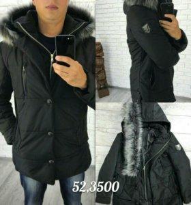 Мужская зимняя куртка-пальто